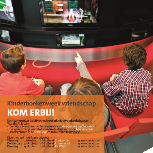 Kinderboekenweek activiteit (Bibl. Zuidwolde)