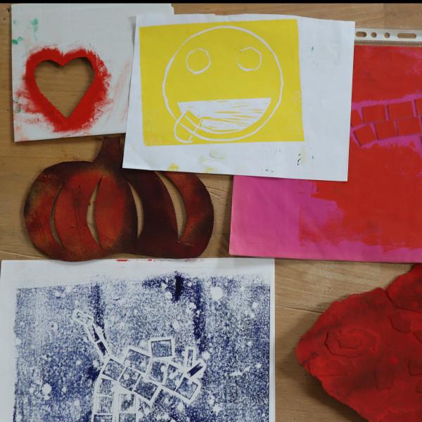 Linosnede en afdrukken maken