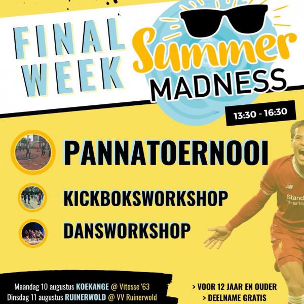 Pannatoernooi met kickboks- en dansworkshop