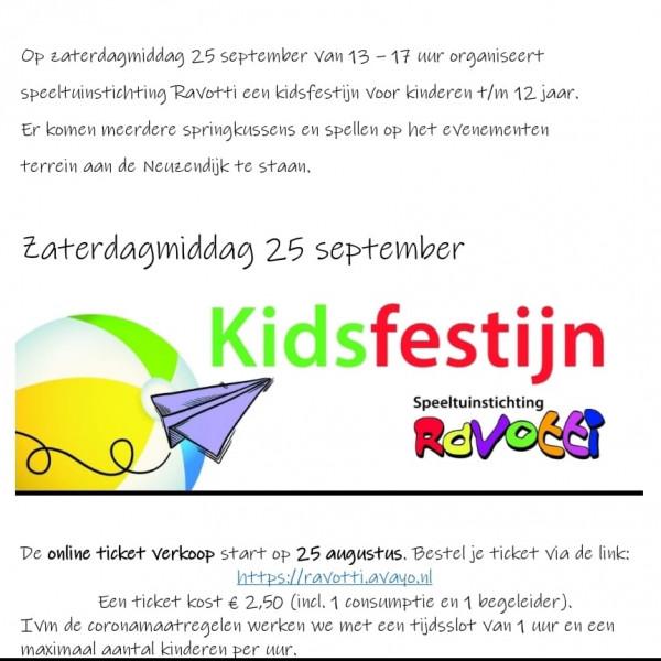 Kidsfestijn - Speeltuinstichting Ravotti